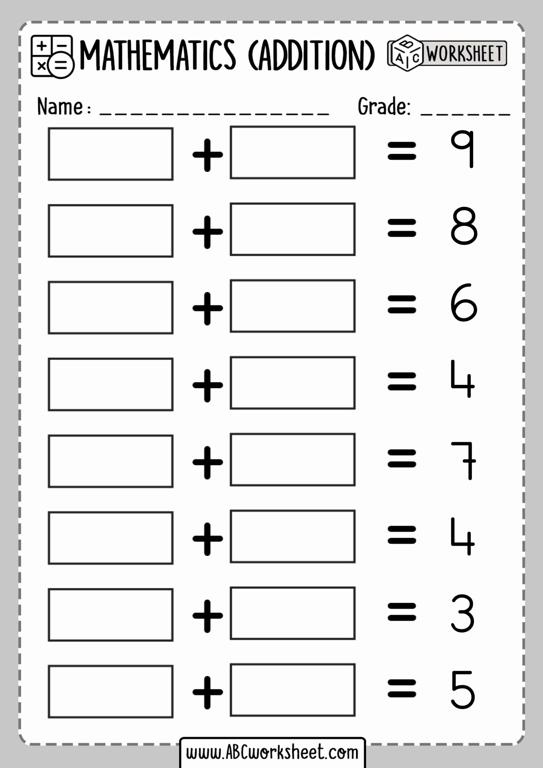 Missing Addend Worksheets Kindergarten Fresh Math Worsksheets