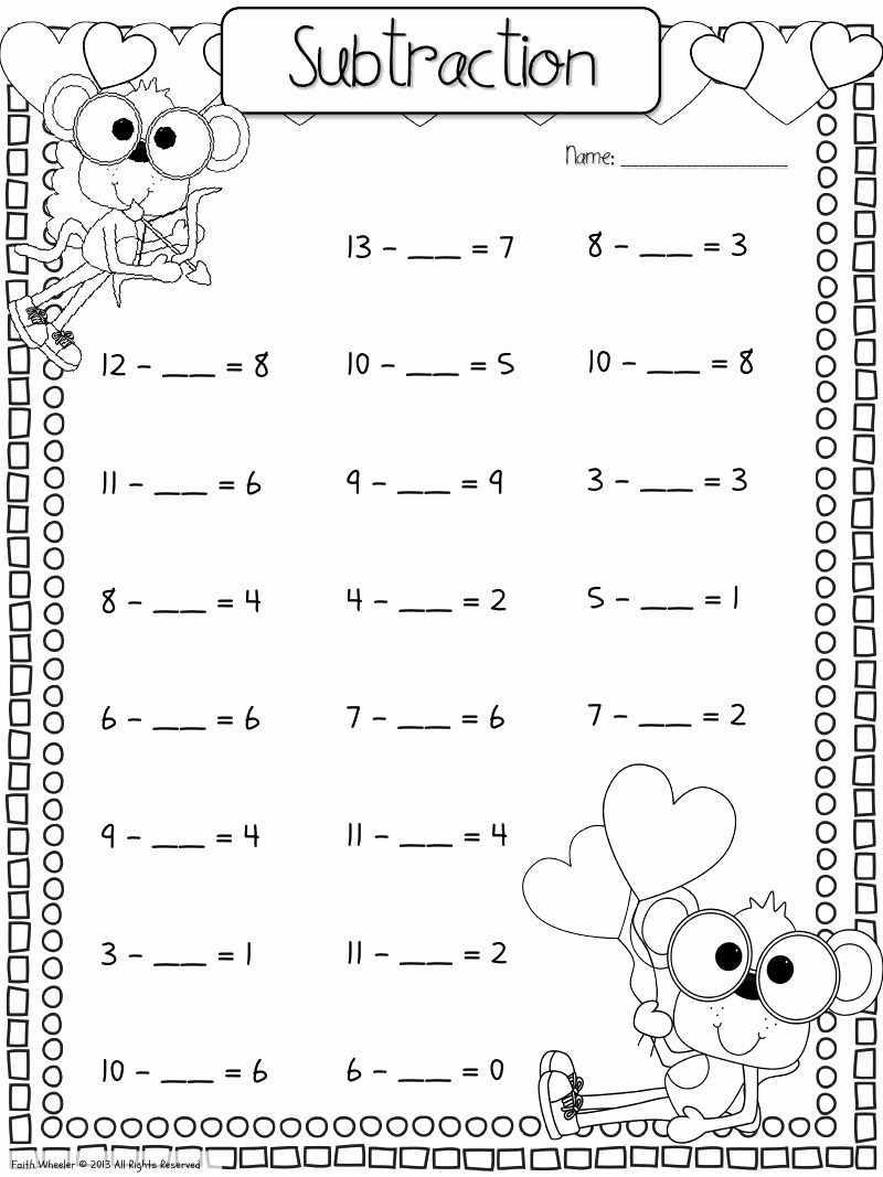 Missing Addend Worksheets Kindergarten Inspirational Find the Missing Addend Worksheet Download