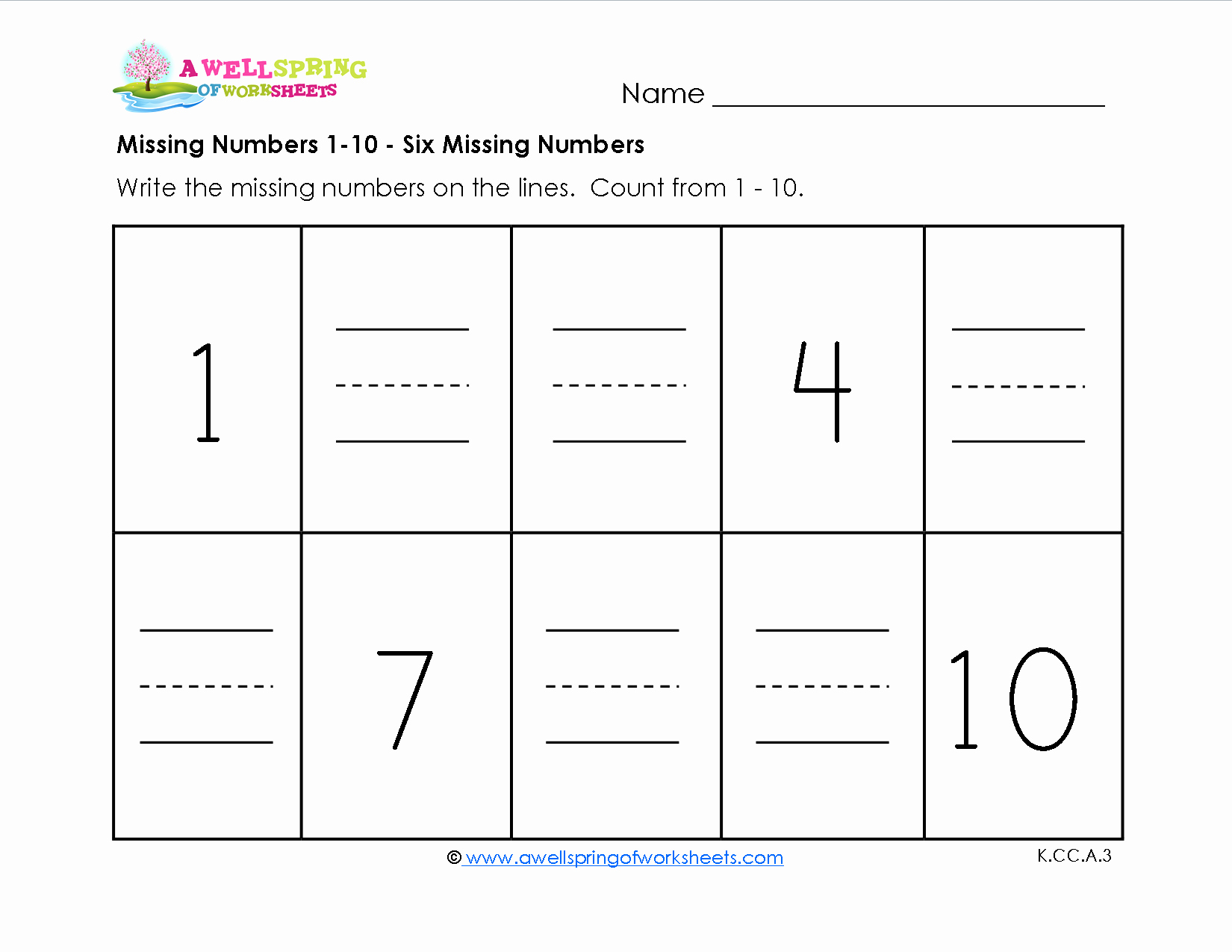 Missing Number Worksheets 1 10 Awesome Missing Numbers 1 10 Kids Fill In the Missing Numbers as