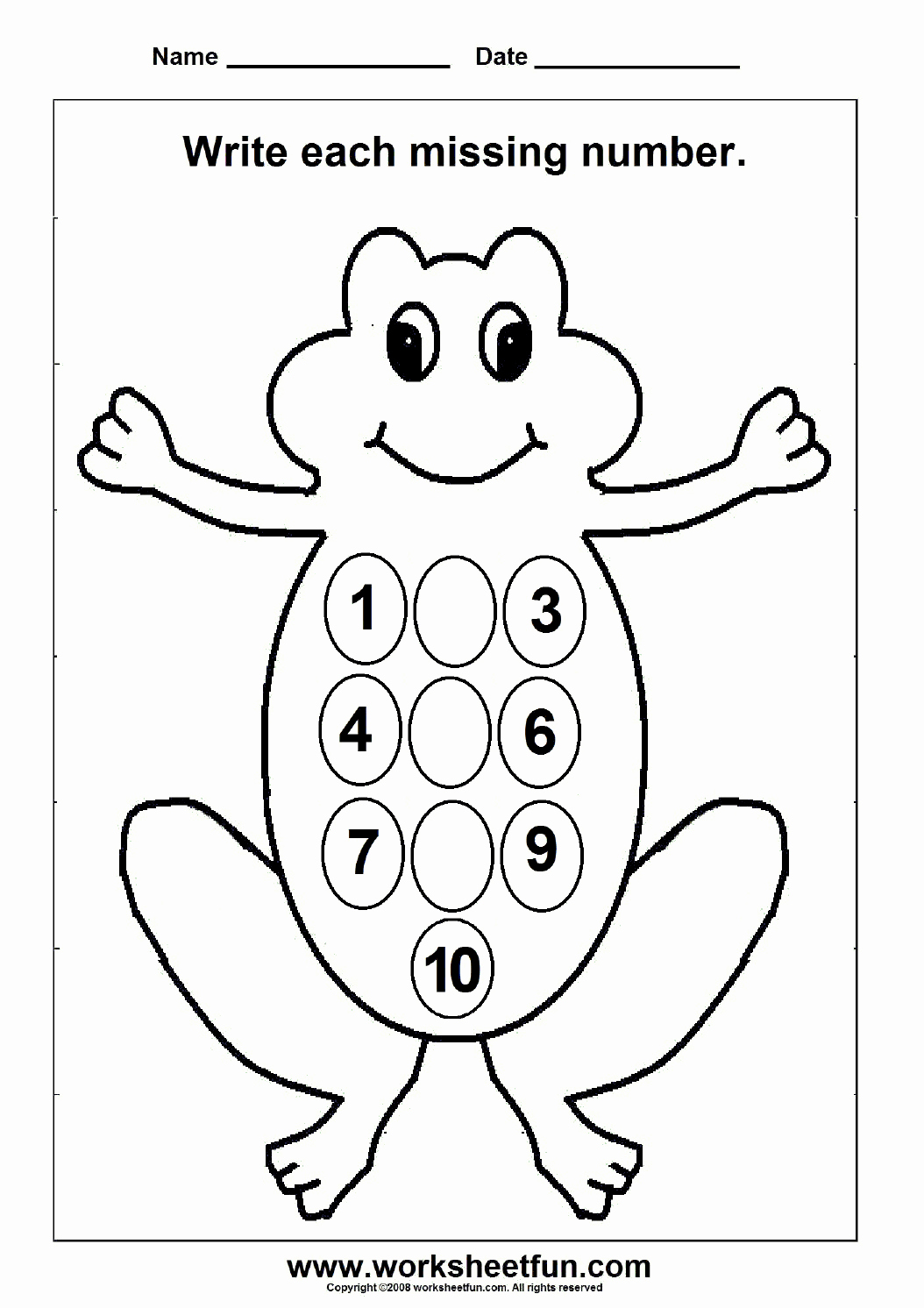 Missing Number Worksheets 1 10 Best Of Missing Numbers – 1 to 10 – 1 Worksheet Free Printable