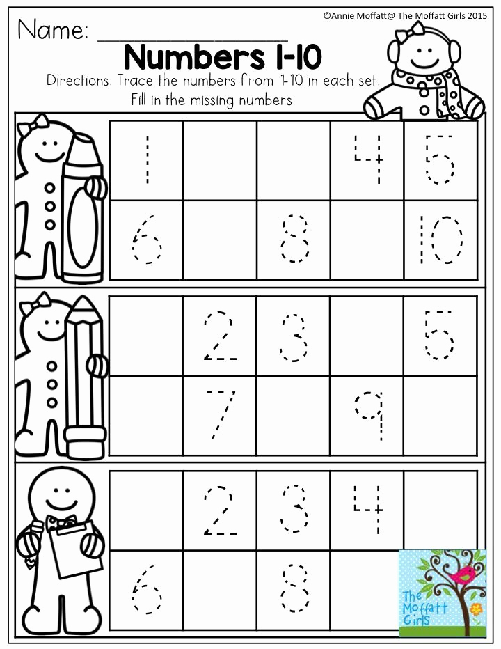 Missing Number Worksheets 1 10 Luxury December Fun Filled Learning with No Prep