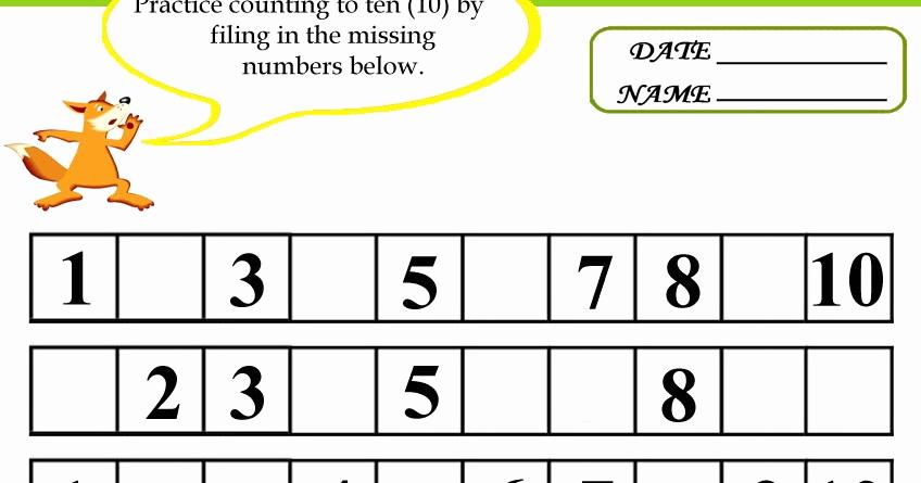 Missing Number Worksheets 1 10 New Missing Number Worksheet New 627 Missing Number