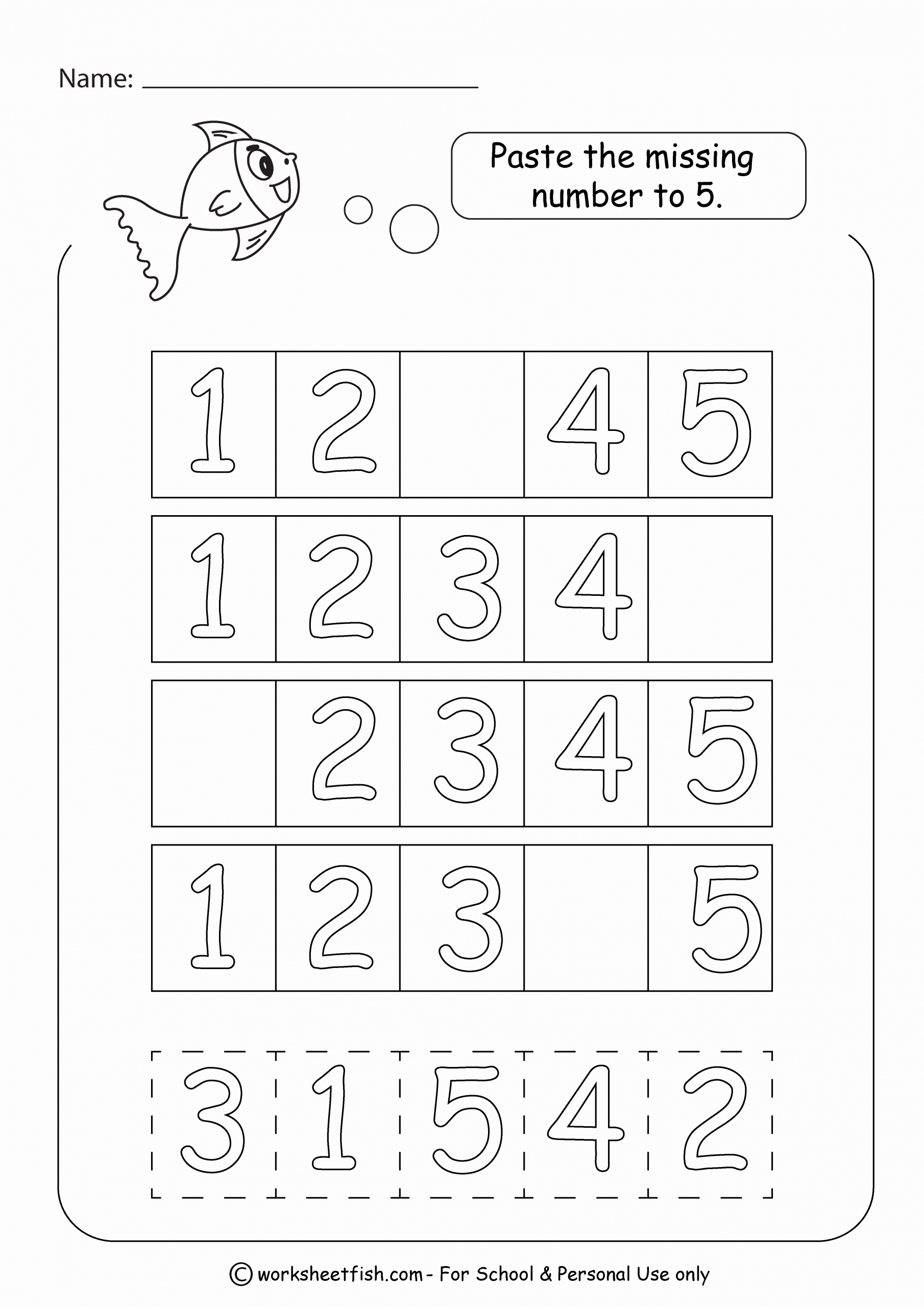 Missing Number Worksheets 1 20 Elegant Missing Numbers 1 20 Cut and Paste Worksheets Worksheet Fish