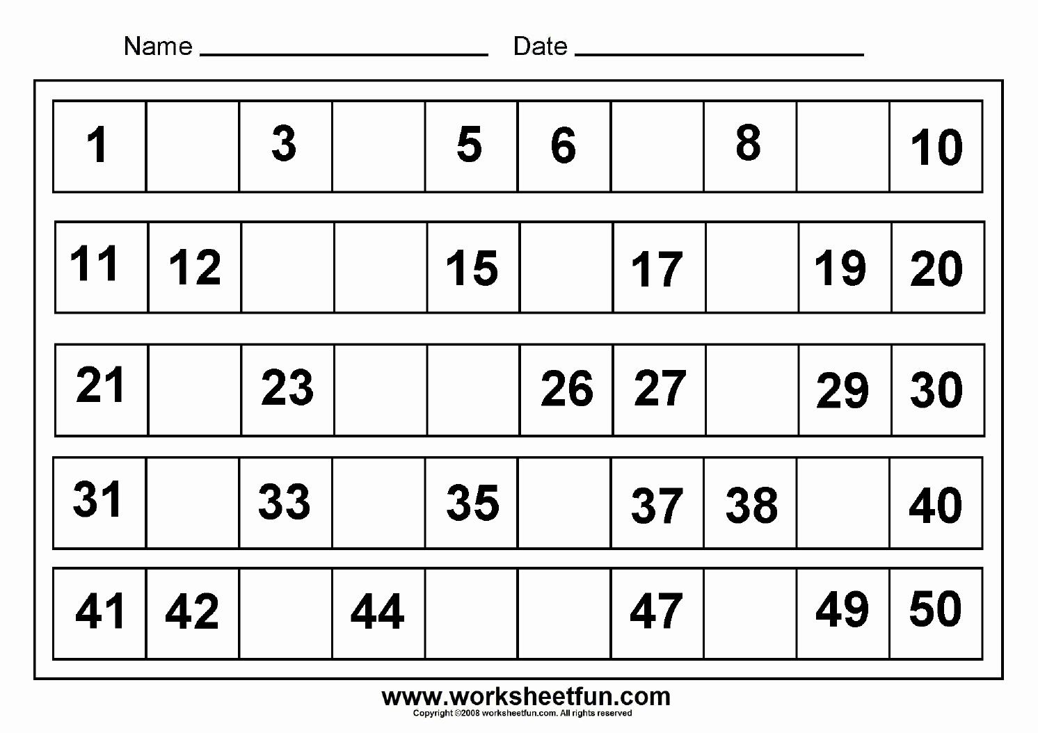 Missing Number Worksheets 1 20 Elegant Missing Numbers Worksheets 1 20