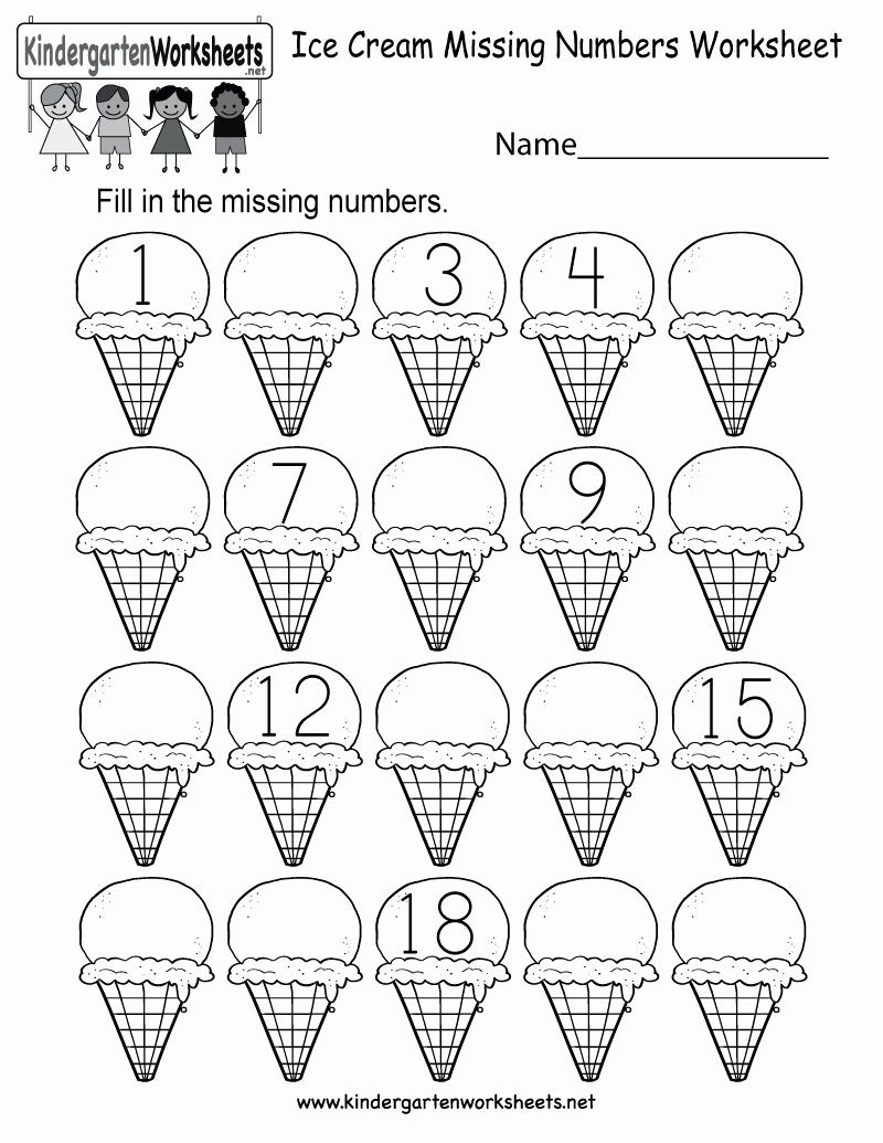 Missing Number Worksheets 1 20 Fresh Free Printable Ice Cream Missing Numbers 1 20 Worksheet