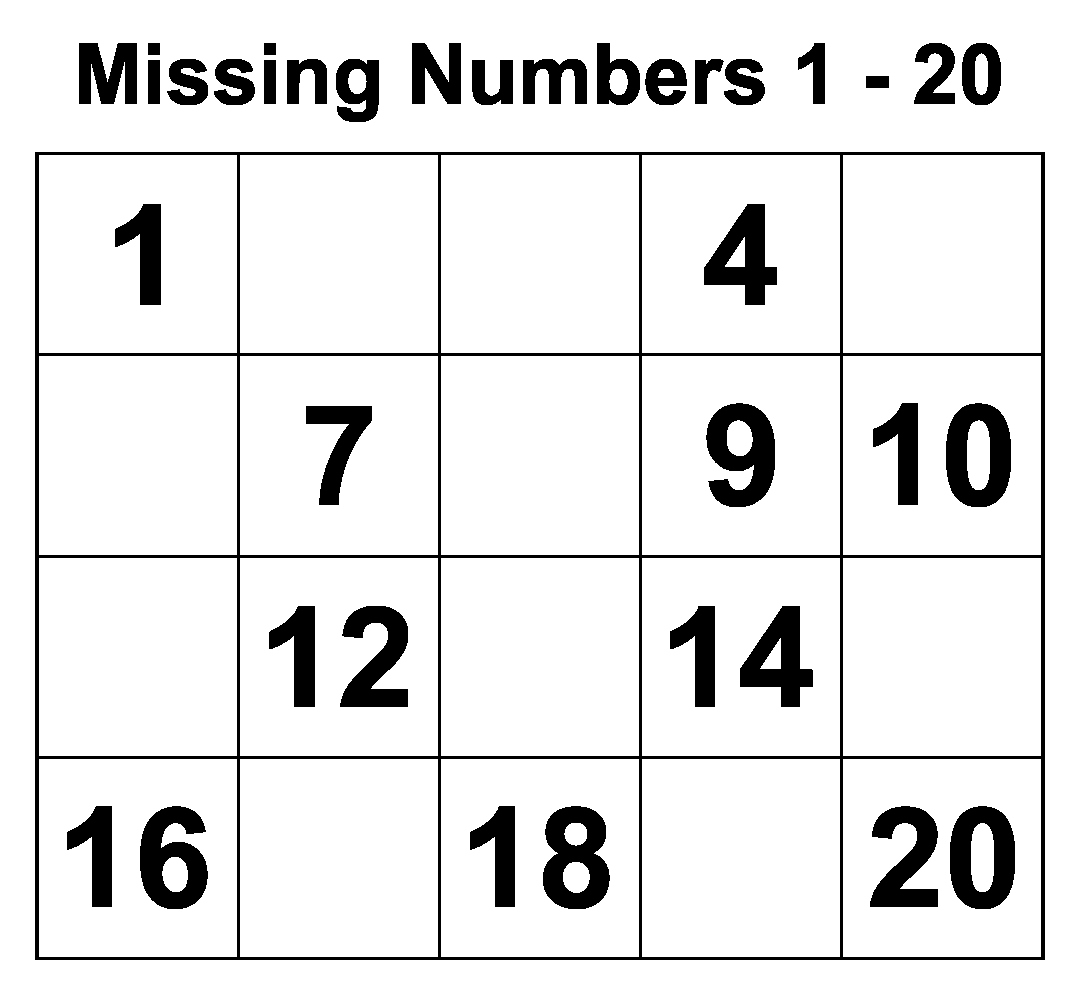 Missing Number Worksheets 1 20 Inspirational 5 Best Writing Numbers 1 20 Printables Printablee