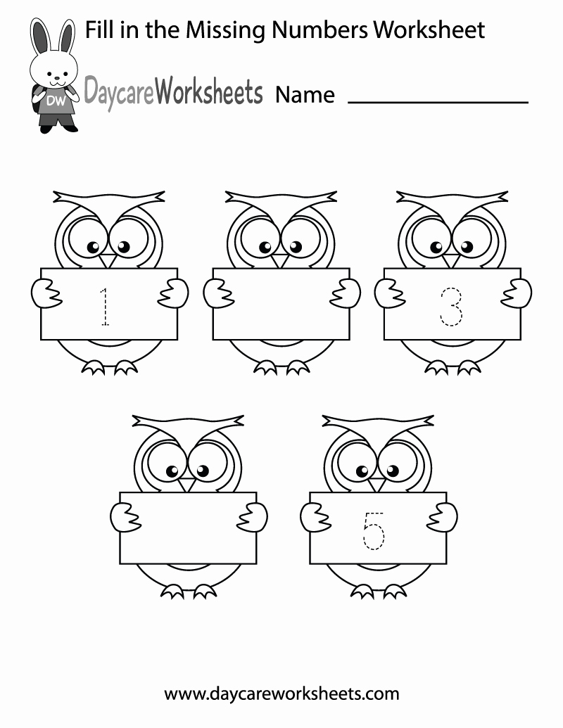 Missing Number Worksheets Kindergarten Lovely Free Printable Fill In the Missing Numbers Worksheet for