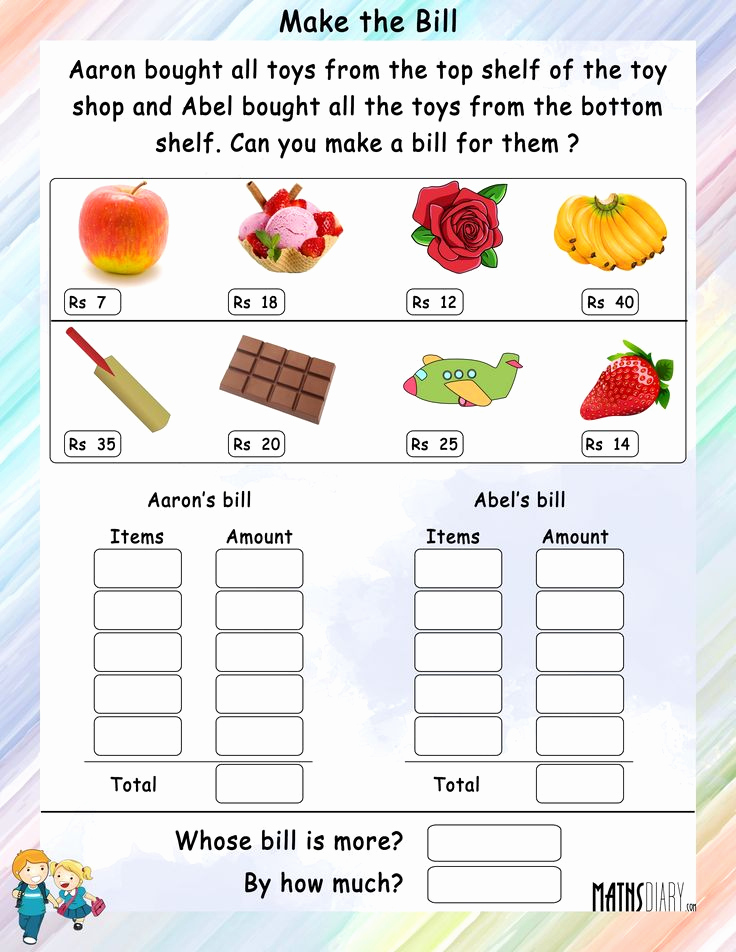 Money Worksheets 3rd Grade Awesome Money Worksheet for Grade 3 In Rupees Yahoo India Image