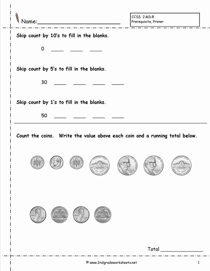 Money Worksheets 3rd Grade Beautiful 4 Free Math Worksheets Third Grade 3 Counting Money Money