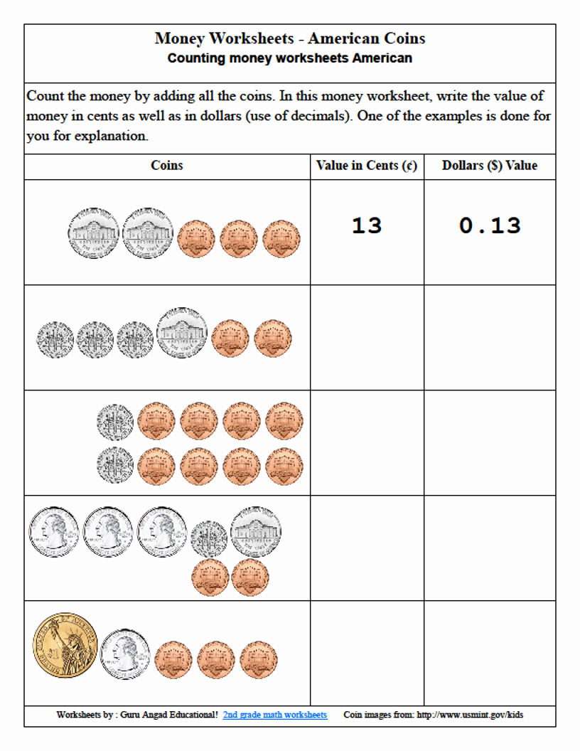 Money Worksheets 3rd Grade Inspirational 3rd Grade Math Money Lessons and Worksheets — Steemit