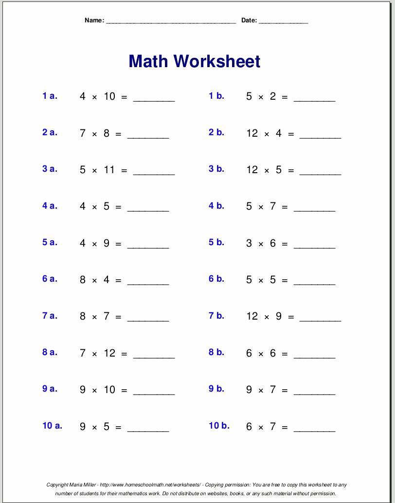Multiplication Facts Worksheet Generator Beautiful Instantly 20 Multiplication Facts Worksheet Generator Free
