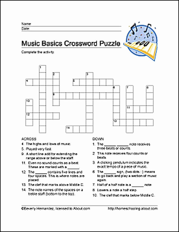 Music theory Worksheet for Kids Awesome Learn Basic Musical Terms with these 10 Printouts
