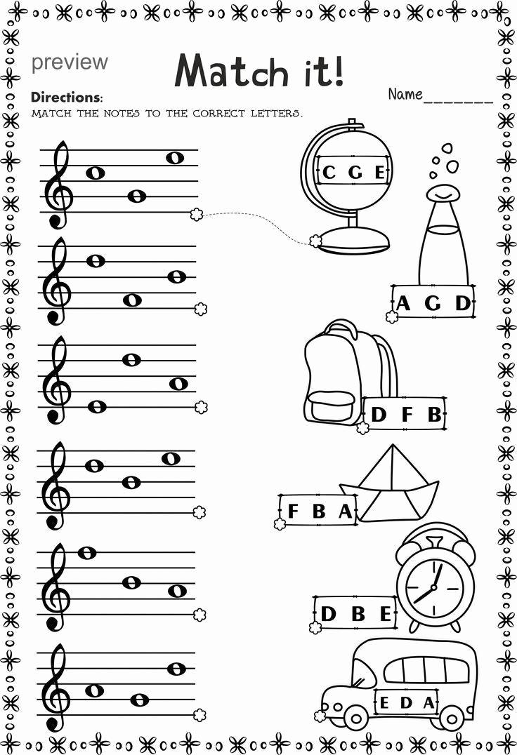 Music theory Worksheet for Kids Beautiful Match Music theory Musiclessonsforkids with Images