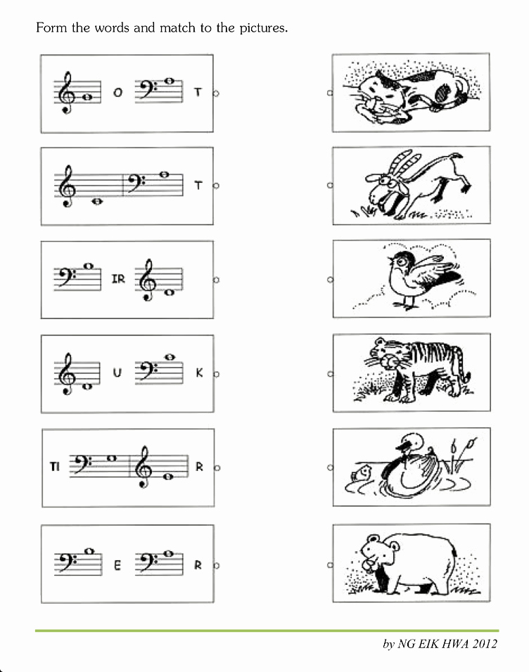 Music theory Worksheet for Kids Beautiful Music World Music theory Worksheet 2