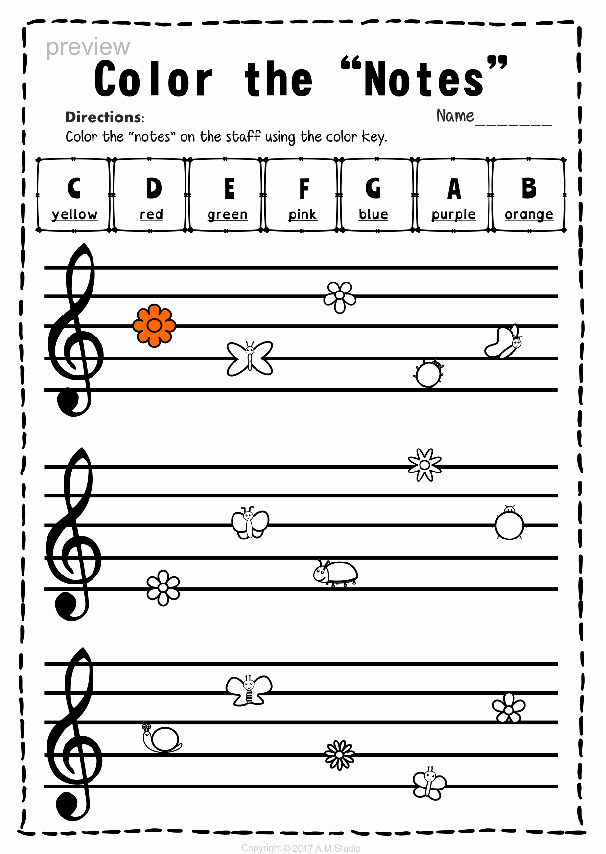 Music theory Worksheet for Kids Elegant Treble Clef Note Naming Worksheets for Spring with Images