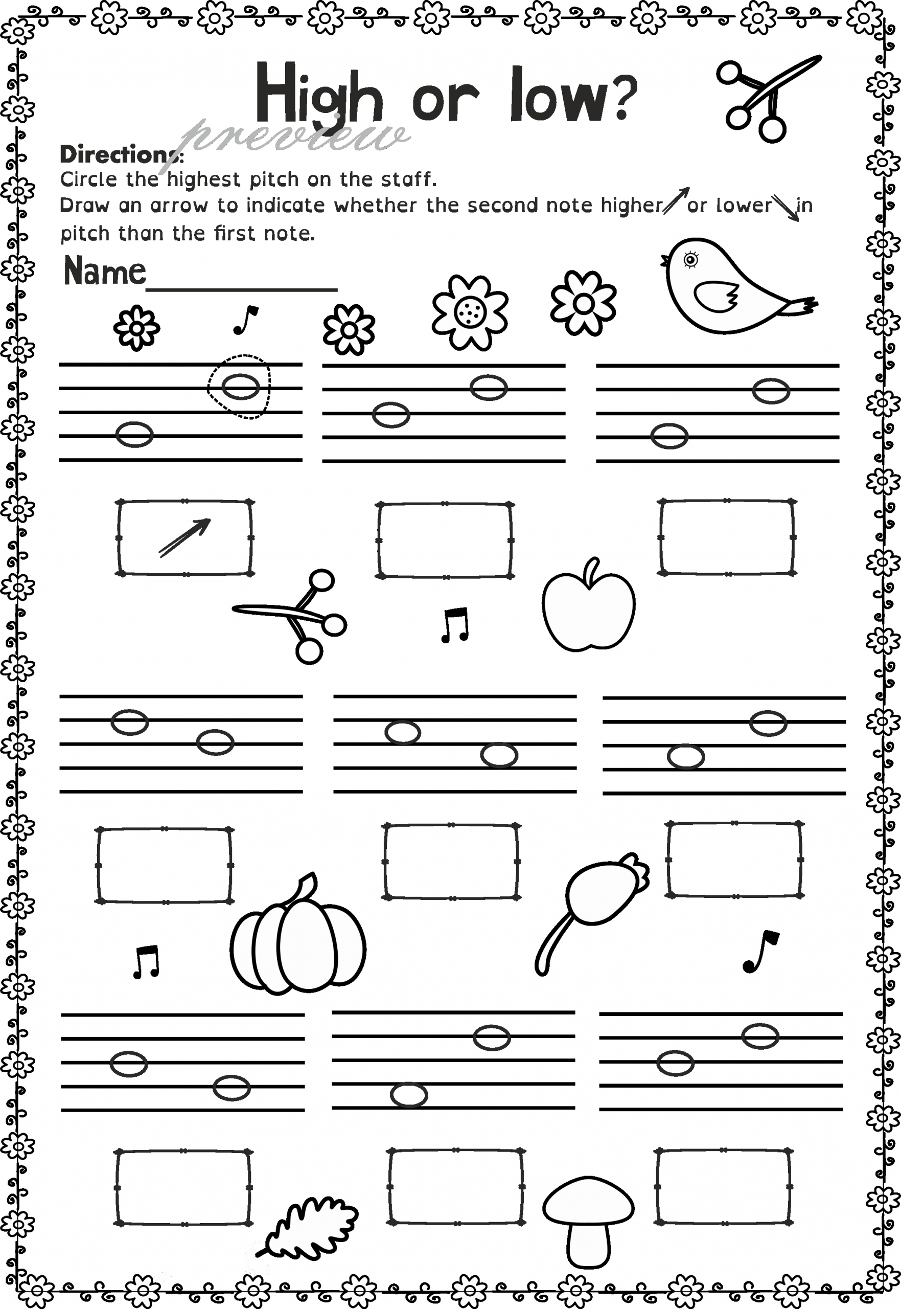 Music theory Worksheet for Kids Lovely This Saving Bundle Contains 40 Fall Autumn themed