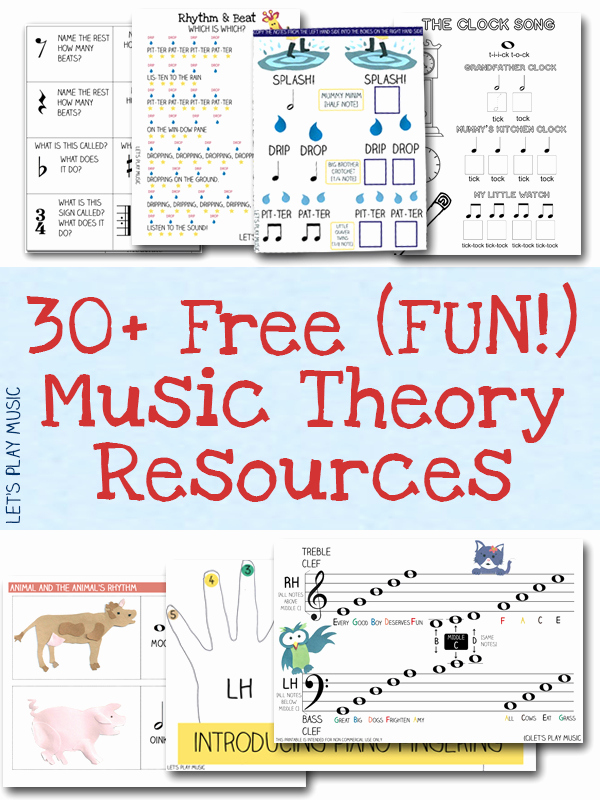 Music theory Worksheet for Kids Luxury Free Resources Free Sheet Music and theory Printables