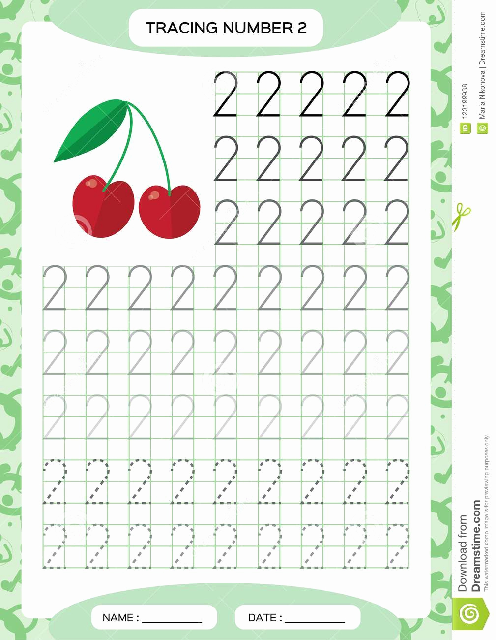 Number 2 Worksheets for Preschool Awesome Number 2 Tracing Worksheets for Preschool