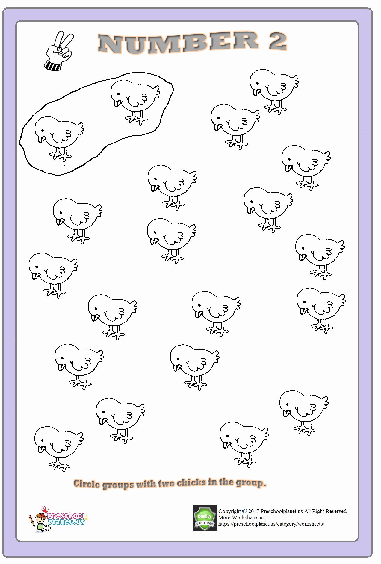 Number 2 Worksheets for Preschool Fresh Number 2 Worksheets for Preschool