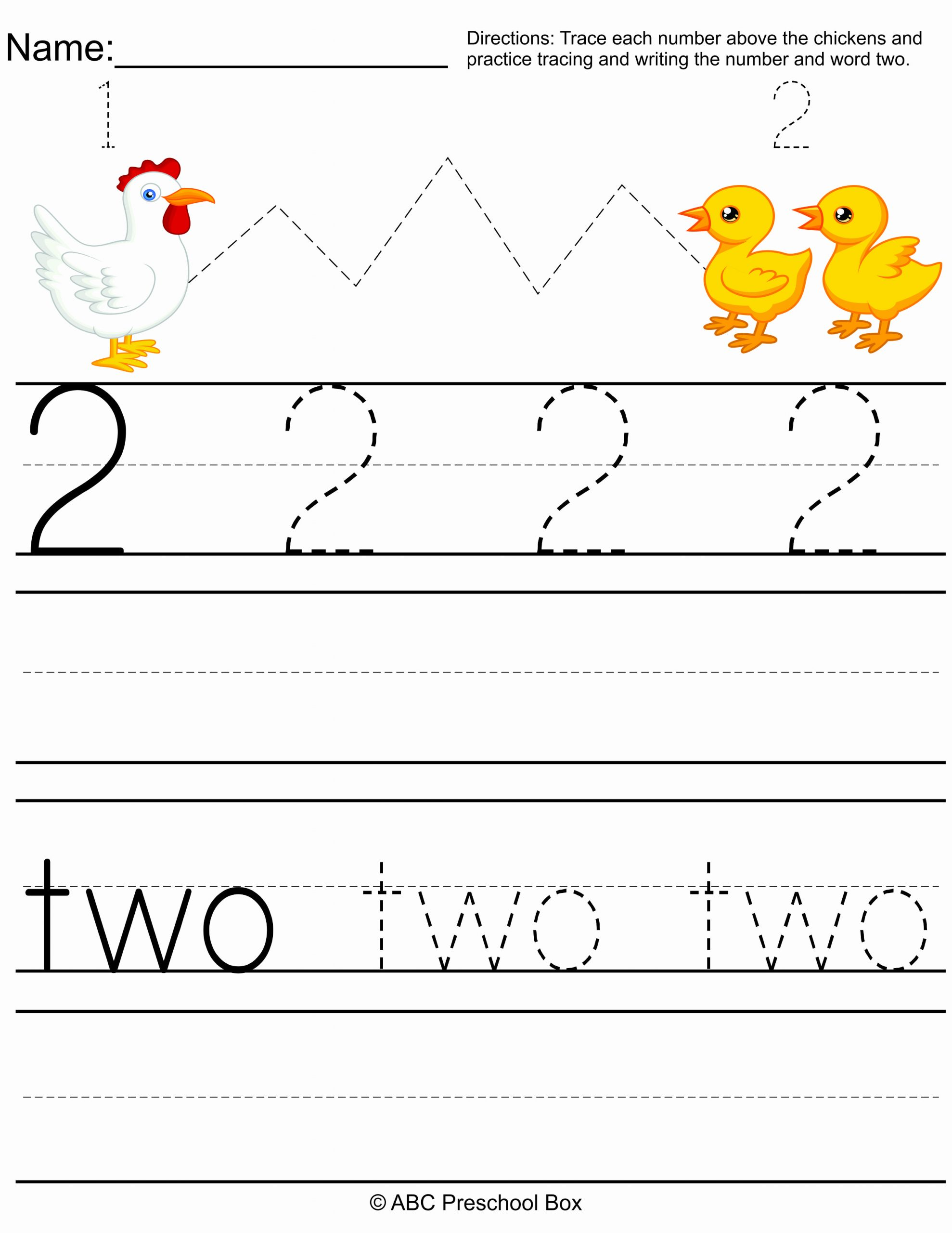 Number 2 Worksheets for Preschool Inspirational Number 2 Preschool Worksheet From Abcpreschoolbox
