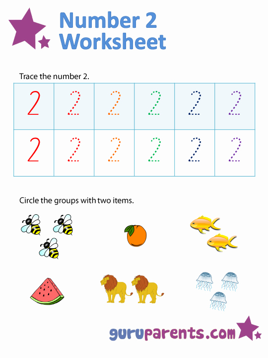 Number 2 Worksheets for Preschool Luxury Number 2 Worksheets