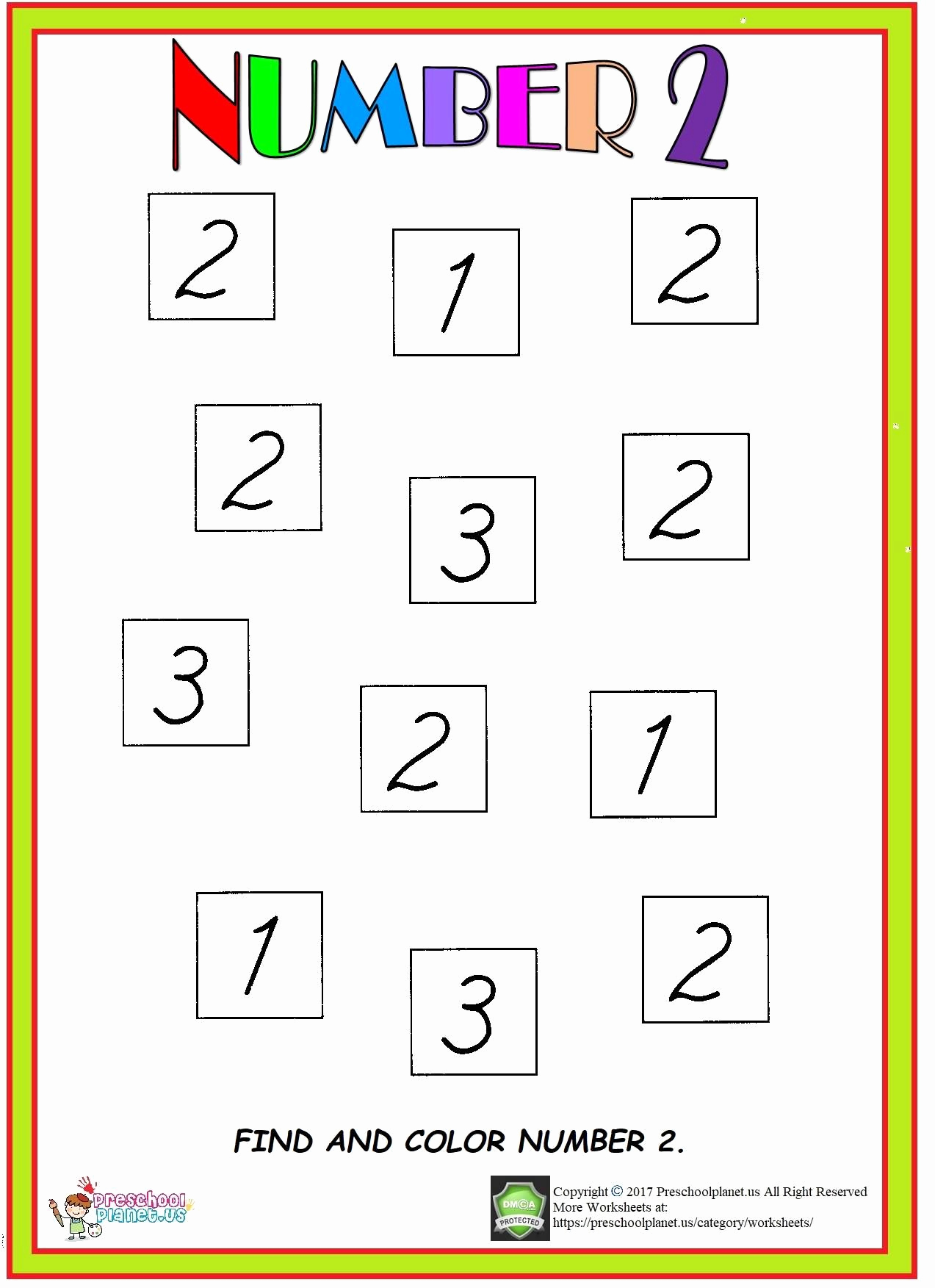Number 2 Worksheets for Preschool Unique Number 2 Worksheet Here is Number 2 Worksheet for