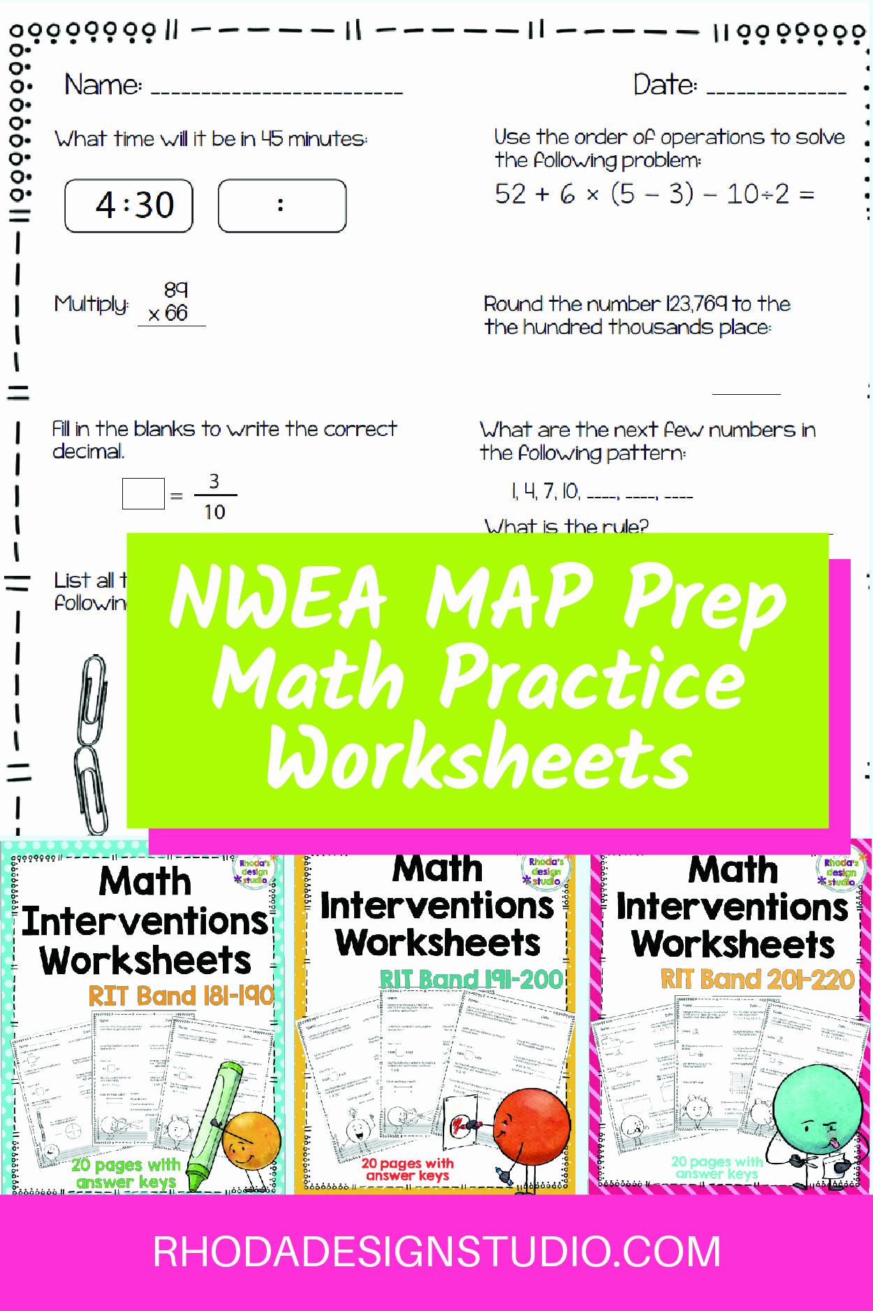 Nwea Math Practice Worksheets Lovely 20 Nwea Math Practice Worksheets