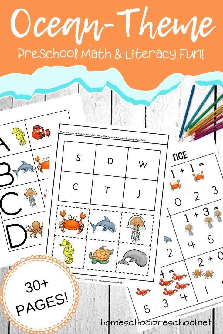 Ocean Worksheets for Preschool Elegant Free Printable Ocean Worksheets for Preschool