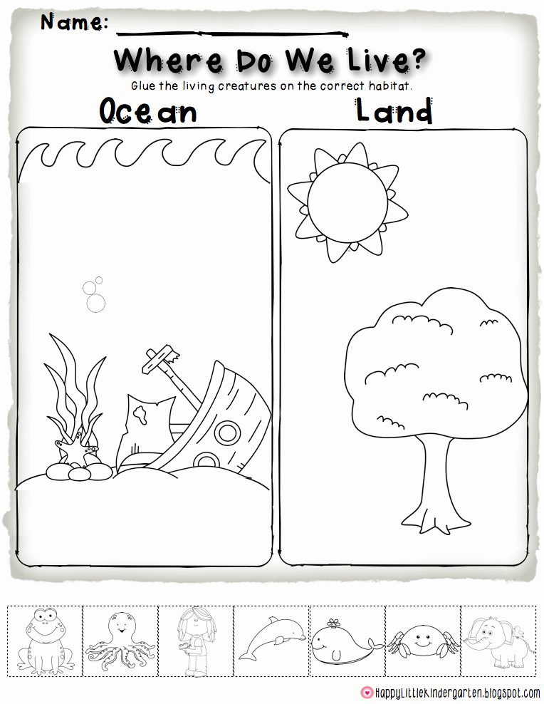 Ocean Worksheets for Preschool Fresh Happy Little Kindergarten Ocean Motion