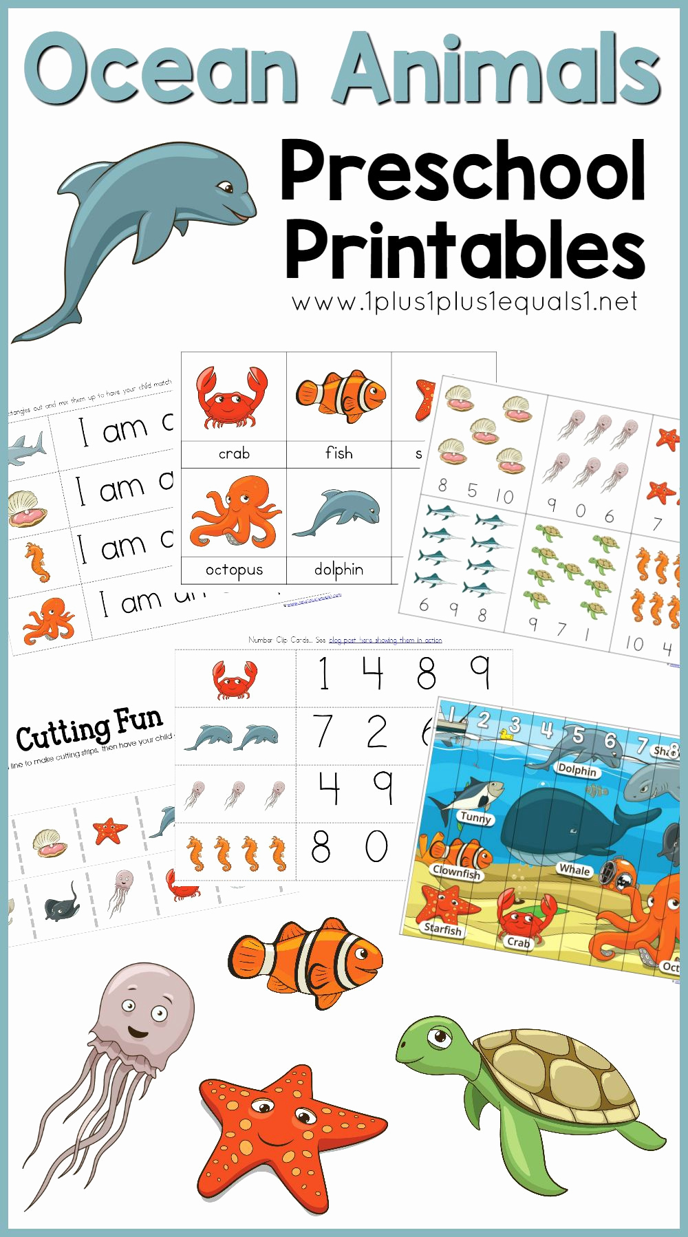Ocean Worksheets for Preschool Inspirational Ocean Animals Printables