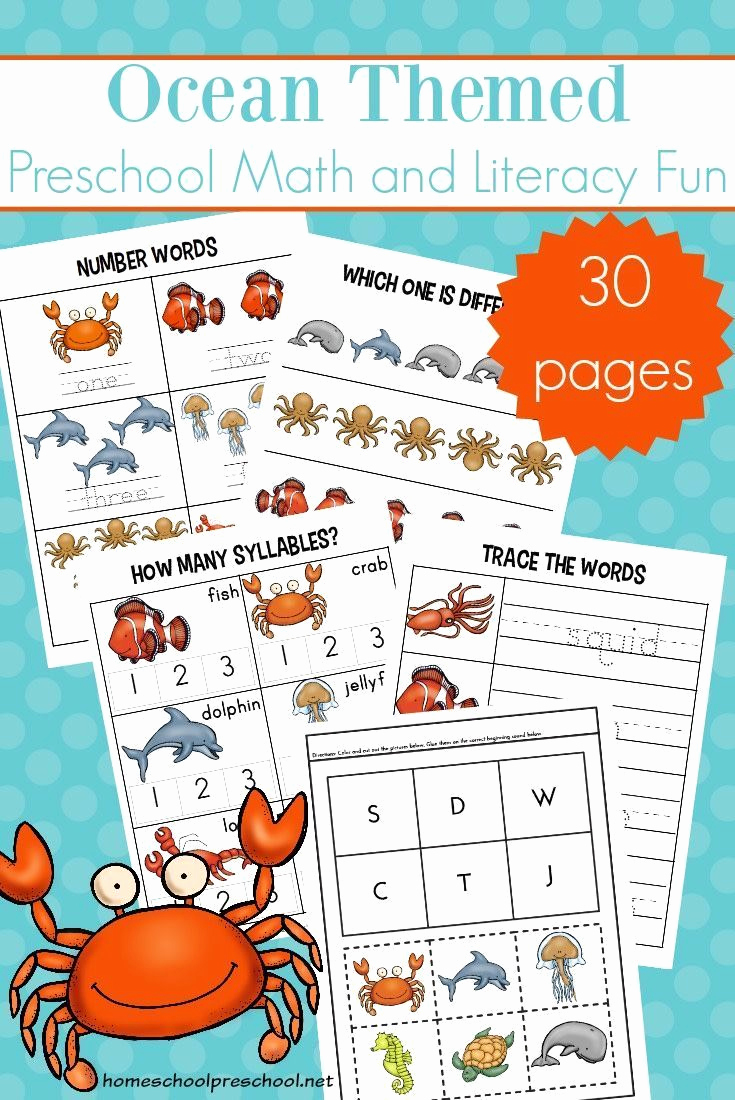 Ocean Worksheets for Preschool Unique Free Printable Ocean Worksheets for Preschool