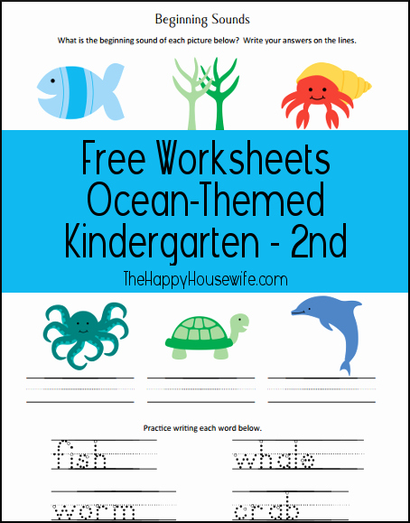 Ocean Worksheets for Preschool Unique Ocean Unit Study Worksheets and Printables the Happy