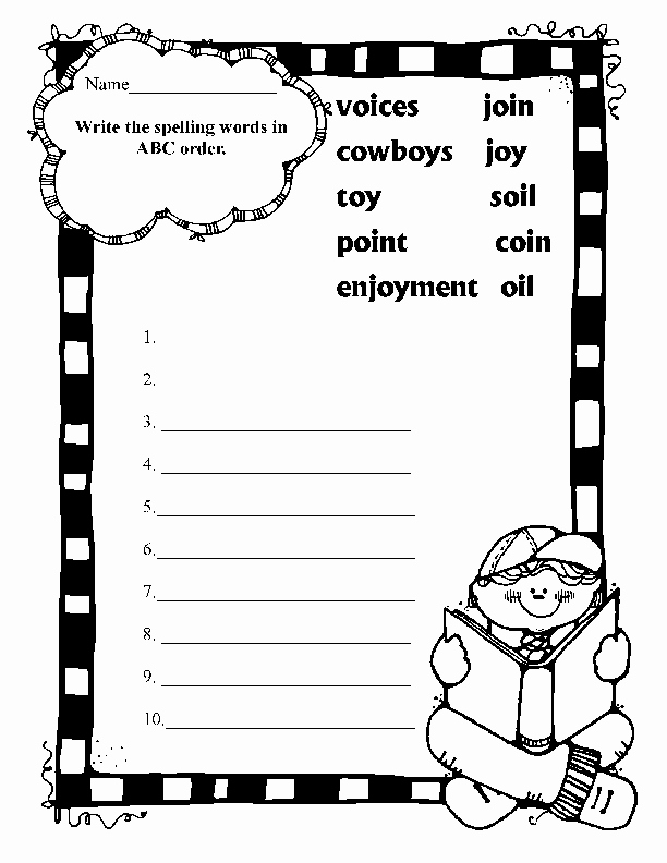 Oi Oy Worksheet Best Of Spelling Oi Oy Binations Worksheet for 2nd 3rd Grade