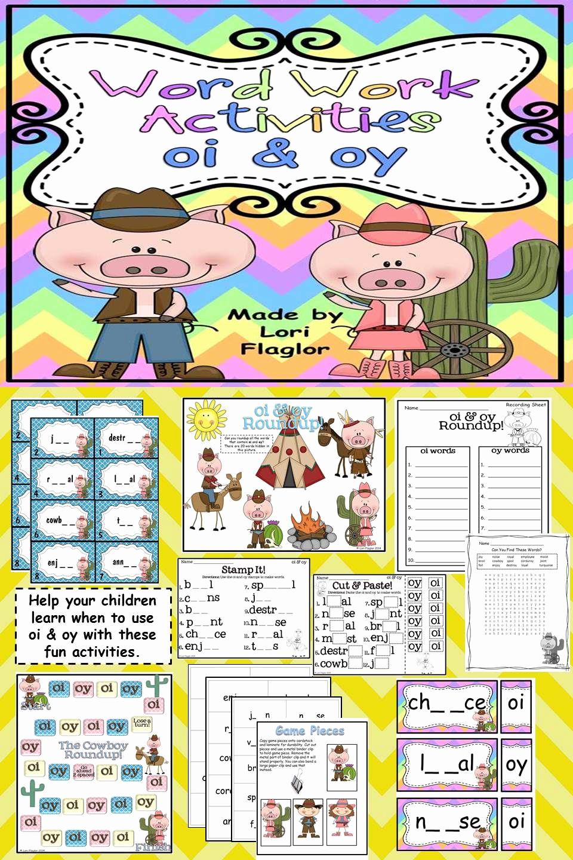 Oi Oy Worksheet Elegant Oi Oy Word Work Activites