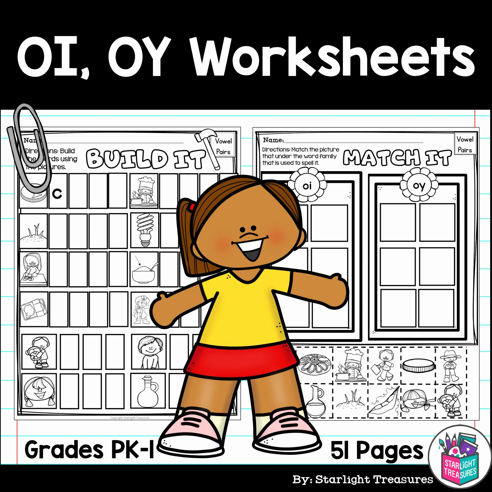 Oi Oy Worksheet Luxury Vowel Pairs Oi Oy Worksheets and Activities for Early