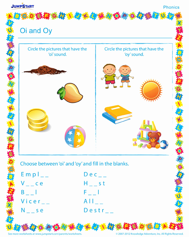 Oi Oy Worksheet New Oi and Oy Worksheet – Free Phonics Worksheet for Beginners