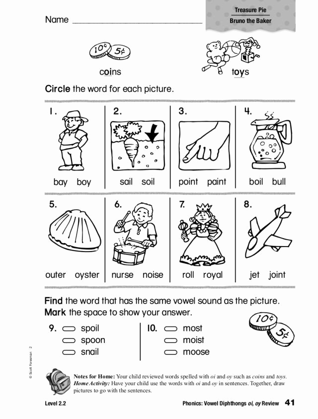Oi Oy Worksheet Unique Diphthongs Oi Oy Worksheets Phonics Vowel Diphthongs Oi