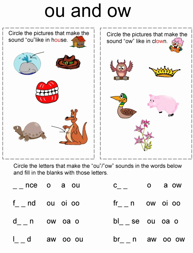 Oi Words Worksheet Awesome Diphthongs Oi and Oy Worksheets