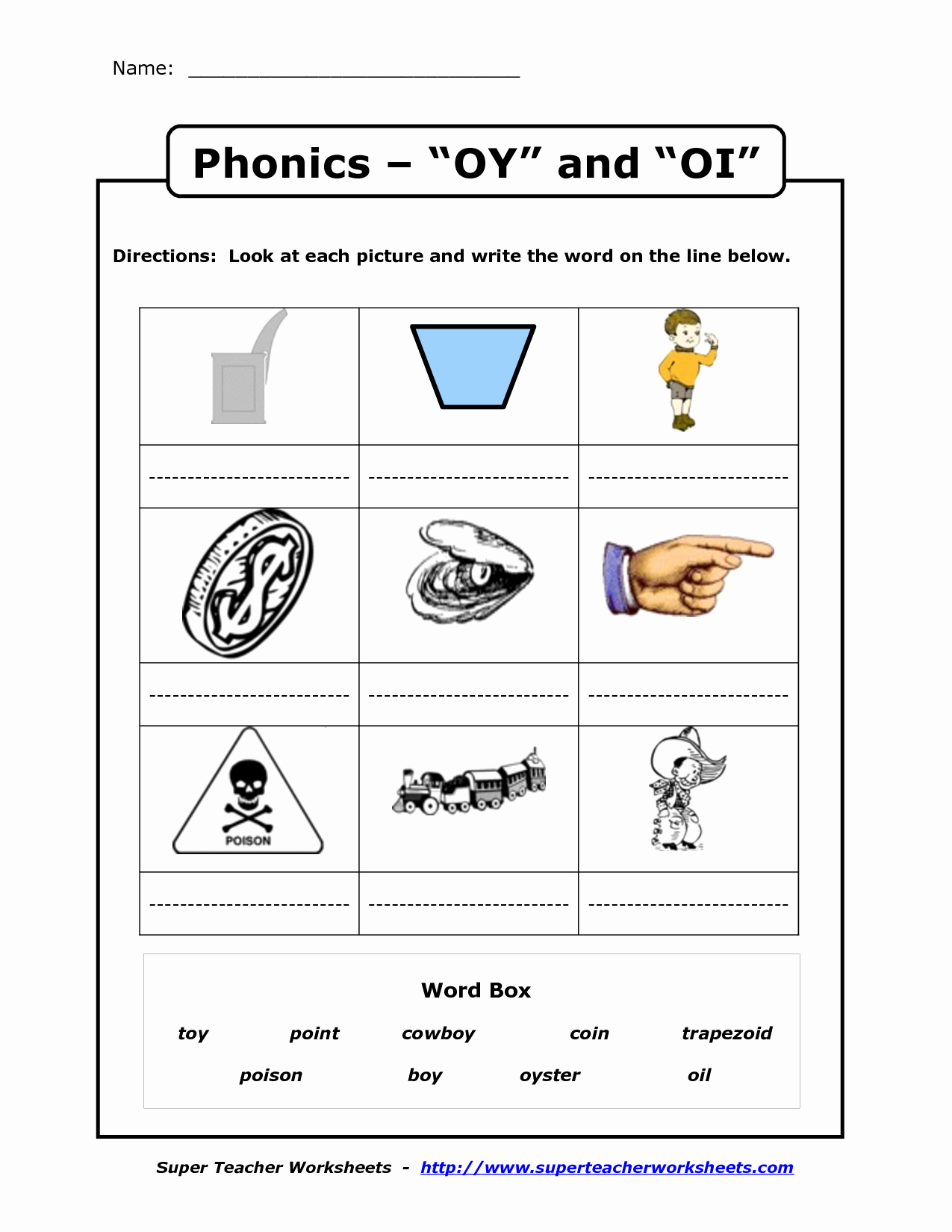 Oi Words Worksheet Awesome Oi Oy Printables Oi Oy Worksheet Fundations