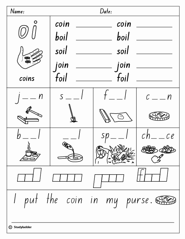 "Oi Words Worksheet Fresh Vowel Digraph ""oi"" English Skills Online Interactive"