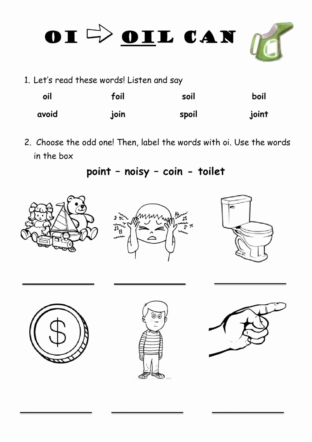 Oi Words Worksheet Inspirational 20 Oi Words Worksheet
