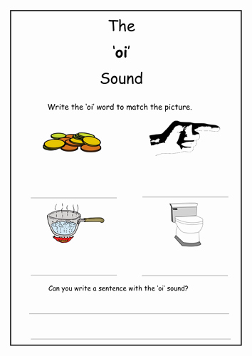 Oi Words Worksheet New Phonics Oi sound Worksheet