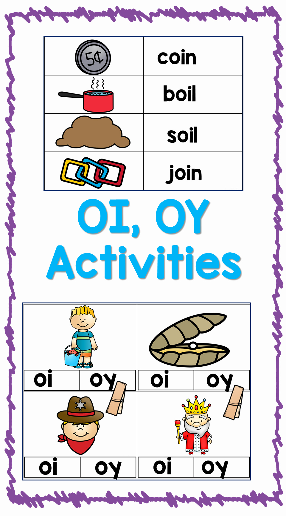 Oi Words Worksheet New Vowel Diphthongs Oi Oy