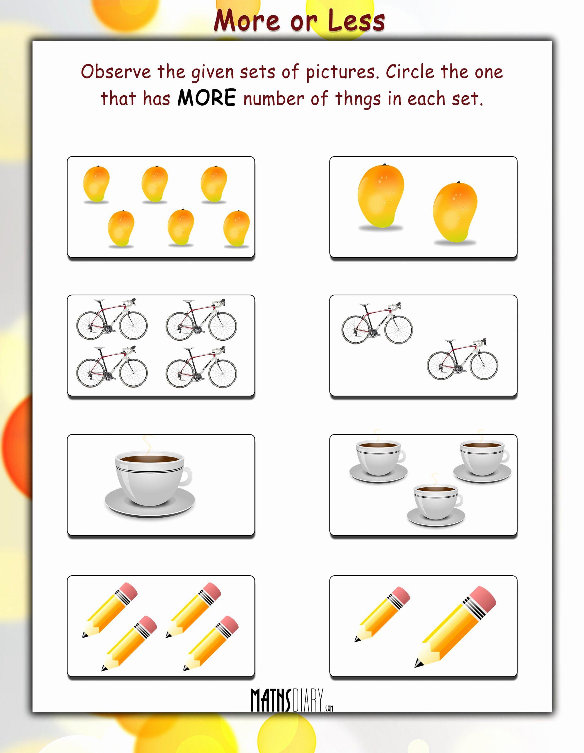 One Less Worksheet Elegant E More Than E Fewer Than Worksheet