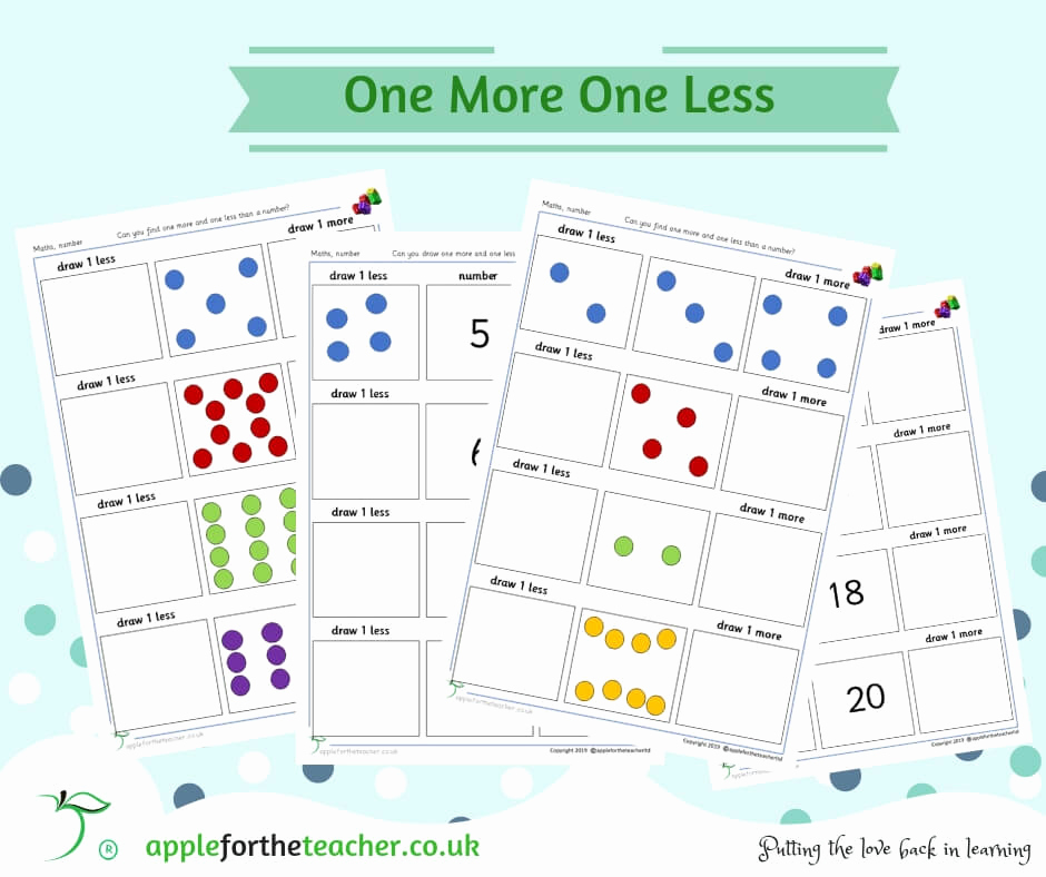 One Less Worksheet New E More E Less Picture and Number Worksheets