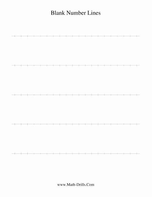 Open Number Line Worksheets Elegant Blank Number Line