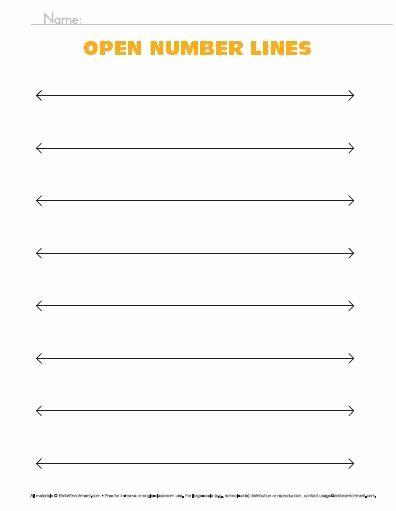 Open Number Line Worksheets Luxury Blank Number Line Worksheet Here S A Set Open Number