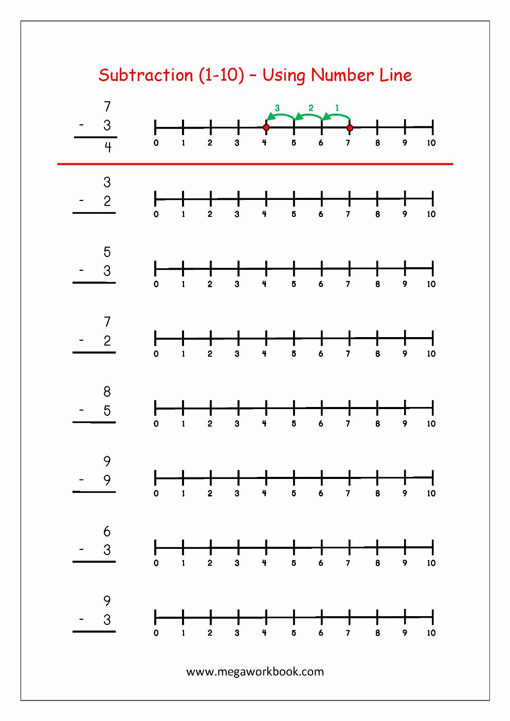 Open Number Line Worksheets Unique Open Number Line Addition Worksheets