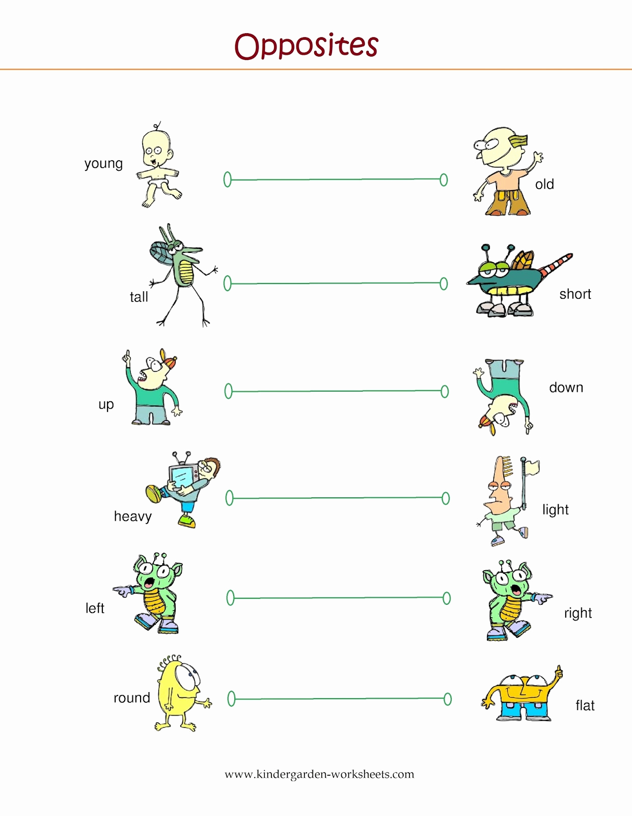 Opposites Preschool Worksheets Lovely Kindergarten Worksheets Kindergarten Worksheets Opposite