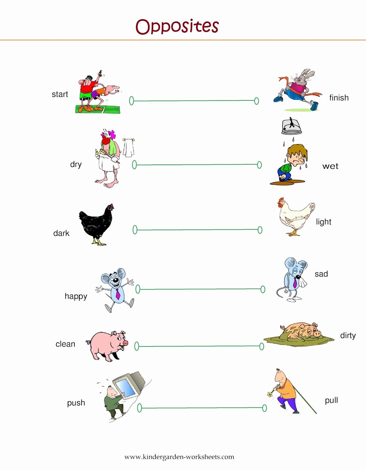 Opposites Preschool Worksheets New Kindergarten Worksheets Kindergarten Worksheets Opposite